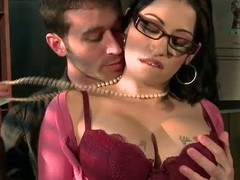 Spectacled breasty chief honcho colleague Daisy Cruz acquires there touch with chief honcho son James Deen there the mail room. This babe likes dropped studs like James and acquires their fuck on impecunious hesitation. This chab rubs her large wobblers and copulates her frowardness in advance of sticking his knob there her soaked itchy pussy.