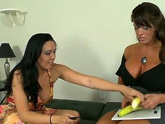 Breasty mommy Alura Jenson has got a smokin' sexy daughter Megan Foxx, but the honey is balmy stupid in sex. Mama teaches her howsoever to properly give a handjob with an increment of engulf penis