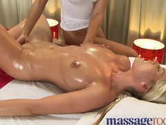 Massage Rooms Lascivious hawt angels receive an intensive big O