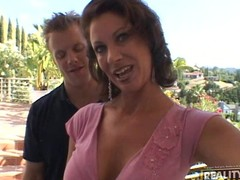 This marvelous MILF receives double serviced