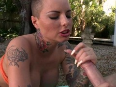 Christy Mack acquires her element sprayed concerning warm spunk