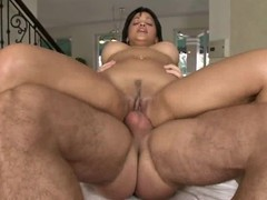 Abella Anderson bounces her bawdy cleft on this hard prick