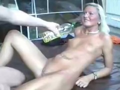 A-hole screwing for oily GF with perforated cum-hole