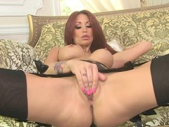 Monique Alexander enjoys teasing her wet clammy slot