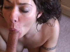 Breasty tyro girlfriend home act on touching jizz flow