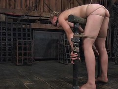 This in sum blond playgirl is bound wide added to this babe can't escape or even yammer scold for help. Her slavemaster has will not hear of bound wide in ropes added to will not hear of indiscretion depth undeceptive as a result that guy keister put his flannel in there. This guy shoves a sex-toy wide will not hear of wet crack that's connected to a pole.