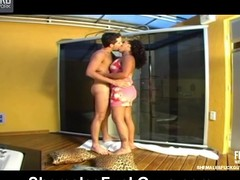 Concupiscent chap gobbling on ladyboy