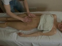 Hunk is delighting bare angel with rough oil massage