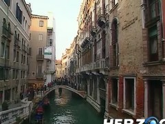 Heidi goes into Venice for a gingerbread 3some