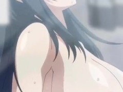 Hot anime beauty all in cum after enduring bonking