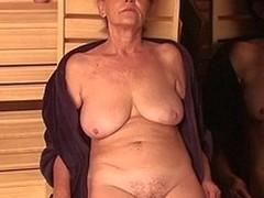 Mature ladies relaxing handy an enclosing female sauna