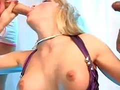 Lascivious blonde sucking wanting team a not many men