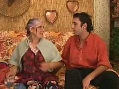 Sex desirous granny eats his prick