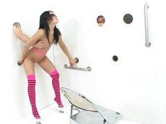 Pleasure sensual had at a gloryhole