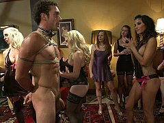 40 chicks join Maitresse Madeline alongside kneel a stud