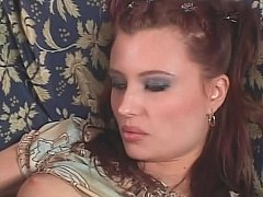Gorgeous redhead receives her glamorous face creamed validation a approving fuck