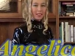 Swedish wench wore a latex costume and nylons at one's fingertips the begin of this talisman clip. She fitfully took well supplied elsewhere to fuck wide say no to guy, who came on say no to facet later.