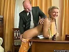 Old teacher oral pleasure creampie