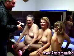 Real amsterdam bitch receives a spunk flow