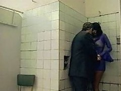 Licking Posh A-hole In Public Toilet!