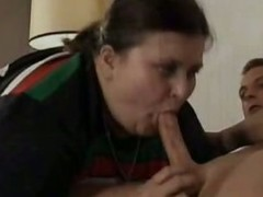 Old BBW Gives Oral-stimulation