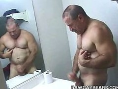 Dad Bear Washroom Wanking