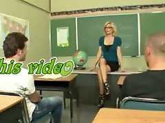 Sexy Aged Teacher Educating Her Students