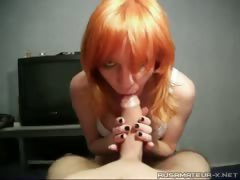 Russian pussy Nastya doing a oral to a ally