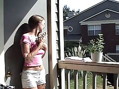 youthful beauty teasing her neighbour
