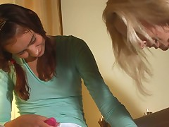 Dear and hawt Vika Nymph is banging the brush girls wet crack