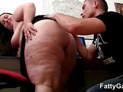 BBW office angel receives screwed unfathomable
