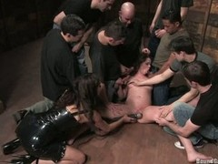 Princess Donna gang jock blow whilst getting dildoed
