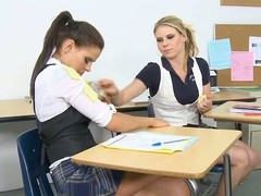 Mature teacher punishes a schoolgirl with his throbbing cock