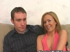 Wife acquires drilled in front of spouse