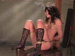 Playgirl can't live without getting bondaged and fingered