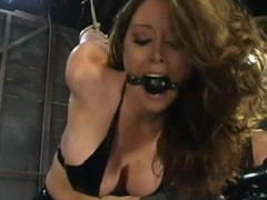 Femdom dusting with Shy Love getting punished wits Christina Carter