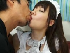 Yurika Miyaji is drilled hard clothed as a maid