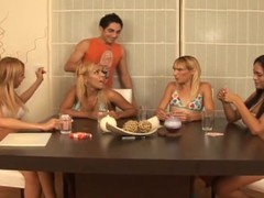 Slutty transsexuals discharged at pleasure gangbanging a alms-man