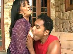 Drilled older playgirl pleases swarthy rod