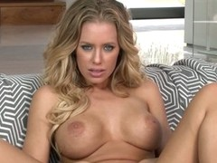 Large boobed Nicole Aniston demonstrates her moist aperture