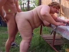 Chunky granny engulfing juvenile bushwa to farm