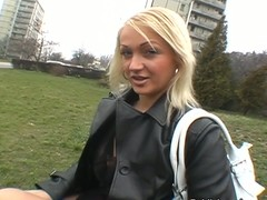 Blondie finds will not hear of cum-hole explored on a parkland bench next to a busy journey