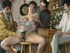 large titted aged screwed in a bar