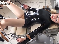 Sexy serf gets sex-toy fucked by mistress