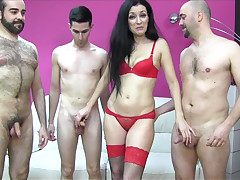 Spanish mother i'd like to fuck enjoys duo dicks nearby a group-sex